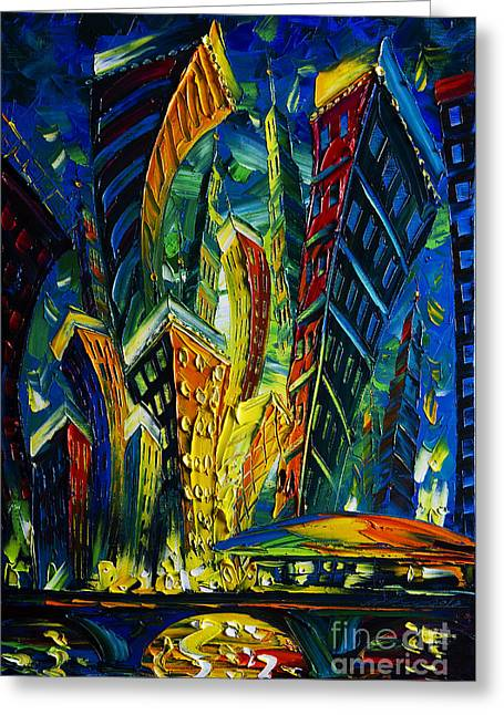 Original Artwork For Sale Greeting Cards - New York Greeting Card by Willson Lau