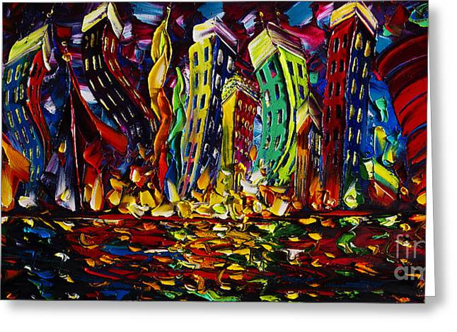 Original Artwork For Sale Greeting Cards - Cityscape Greeting Card by Willson Lau