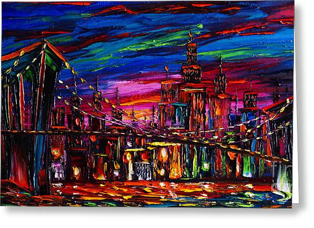 City Art Greeting Cards - New York Greeting Card by Willson Lau