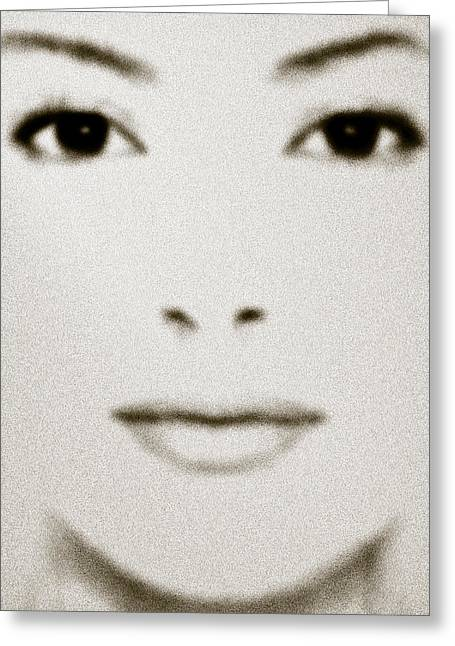 Fashion Portraits Greeting Cards - Fashion Face Greeting Card by Frank Tschakert