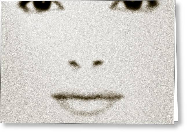 Fashion Portrait Greeting Cards - Fashion Face Greeting Card by Frank Tschakert
