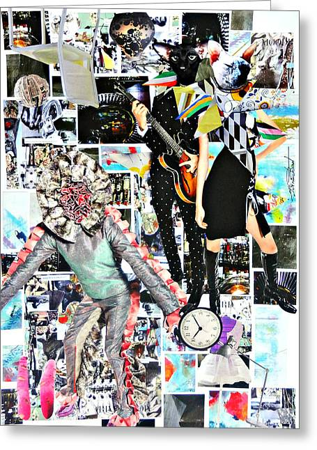 Andrey Greeting Cards - Fashion illustration Andrey Bartenev. Graphics. Collage Greeting Card by Irina Bast