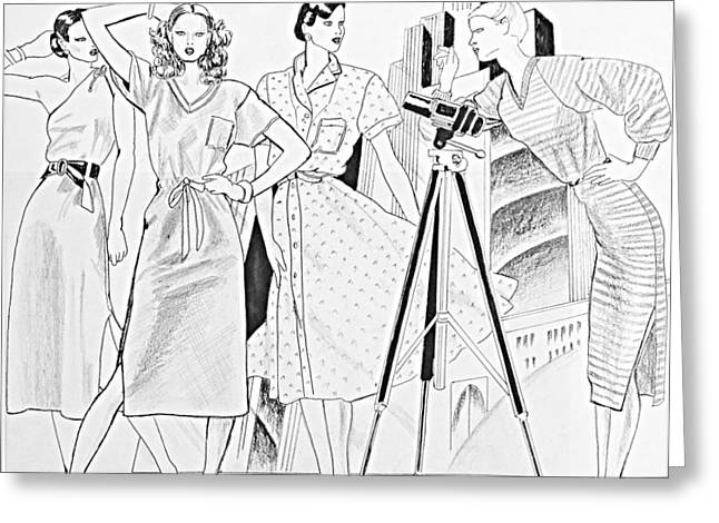 Savvy Greeting Cards - Fashion Illustration Greeting Card by Sarah Parks