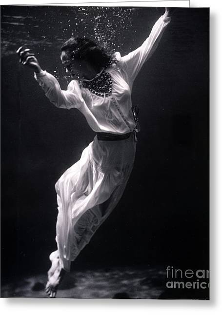 Underwater Photos Greeting Cards - Fashion Model Underwater, 1939 Greeting Card by Science Source
