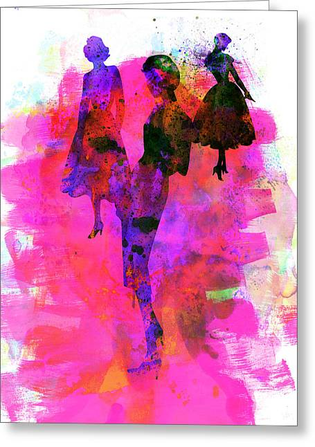 Supermodels Greeting Cards - Fashion Models 1 Greeting Card by Naxart Studio