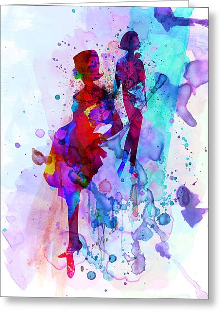Fashion Models 5 Greeting Card by Naxart Studio
