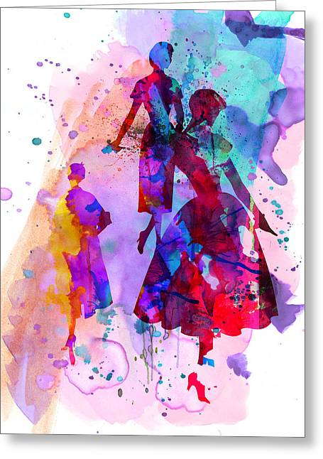 Supermodels Greeting Cards - Fashion Models 6 Greeting Card by Naxart Studio