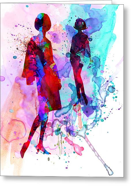 Supermodels Greeting Cards - Fashion Models 8 Greeting Card by Naxart Studio