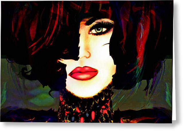 Fashion Queen Greeting Card by Natalie Holland