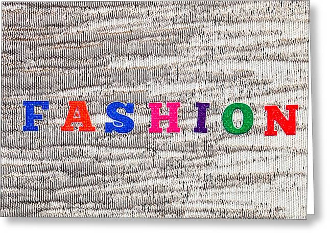 Abstract Style Greeting Cards - Fashion Greeting Card by Tom Gowanlock