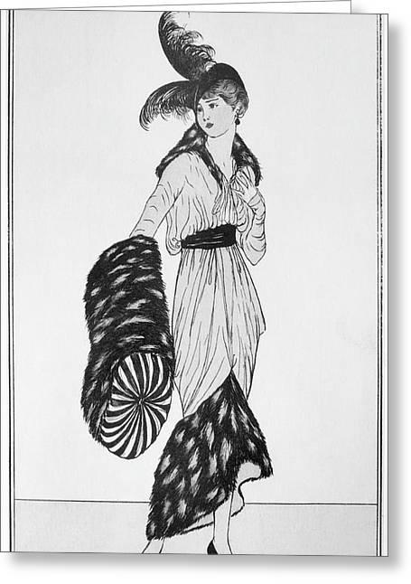 Fashion Woman, 1913 Greeting Card by Granger