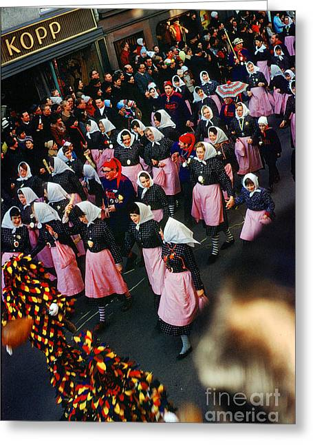 Fasnet Festival In Schramberg Germany Greeting Card by Wernher Krutein