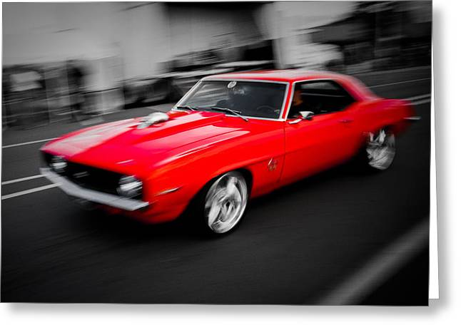 Phil Motography Clark Greeting Cards - Fast Camaro Greeting Card by Phil