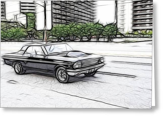 1963 Ford Greeting Cards - Fast Fairlane Greeting Card by Thomas  MacPherson Jr