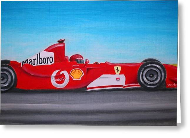 Stacy Bottoms Greeting Cards - Fast Ferrari Greeting Card by Stacy C Bottoms