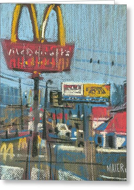 Mcdonalds Greeting Cards - Fast Foods Greeting Card by Donald Maier
