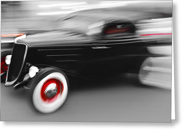 D700 Greeting Cards - Fast Ford Hot Rod Greeting Card by Phil