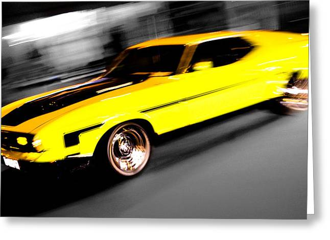 Fast Ford Mustang Mach 1 Greeting Card by Phil 'motography' Clark