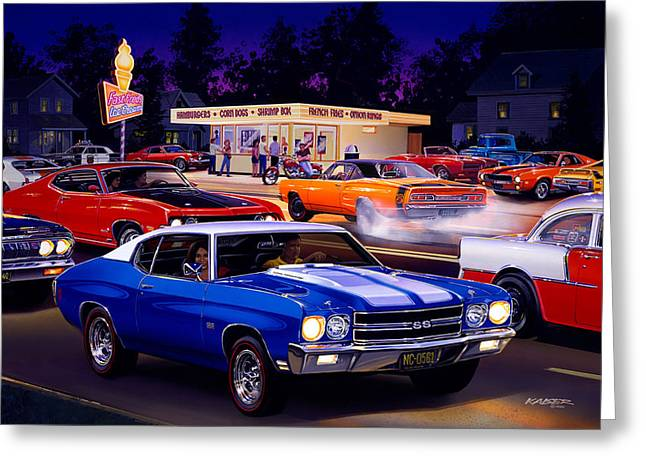 Fast Freds Greeting Card by Bruce Kaiser