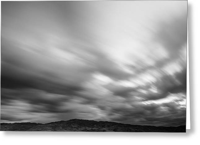 Creative People Greeting Cards - Fast moving clouds over Boise Hills Greeting Card by Vishwanath Bhat