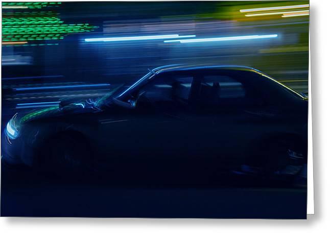 Blue Subaru Greeting Cards - Fast n loud Greeting Card by Ryan Crane