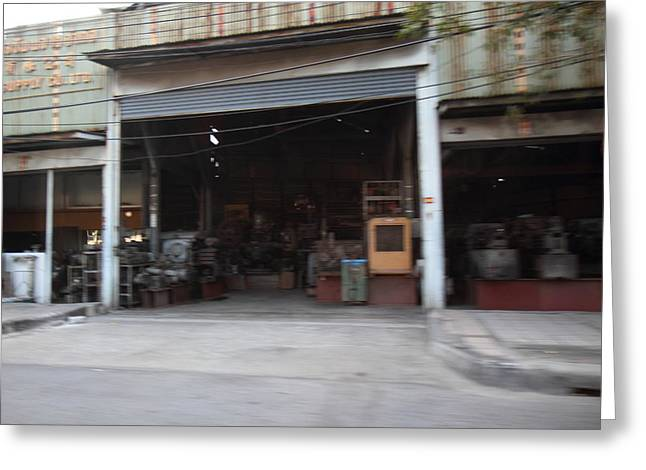 Fast Paced City Life - Bangkok Thailand - 01131 Greeting Card by DC Photographer