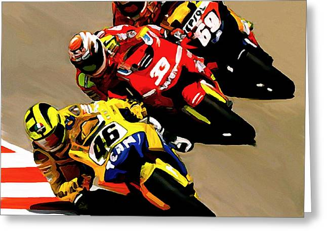 The Doctor Greeting Cards - FASTER  Valentino Rossi Greeting Card by Iconic Images Art Gallery David Pucciarelli