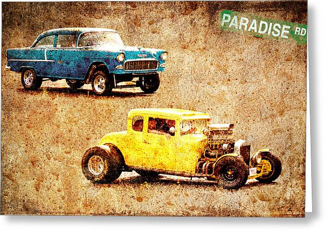 Graffitti Coupe Greeting Cards - Fastest Car in The Valley Greeting Card by Steve McKinzie