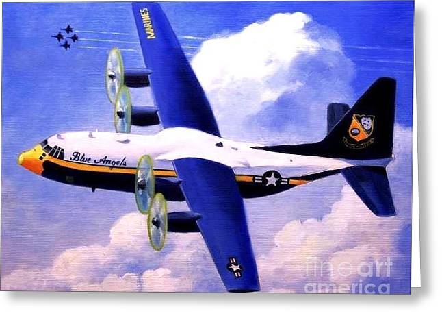 F-18 Paintings Greeting Cards - Fat Albert Greeting Card by Stephen Roberson