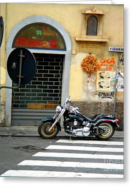Italy Greeting Cards - Fat Boy in Florence Greeting Card by Phillip Allen