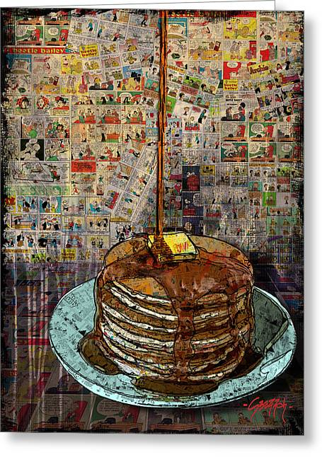 Jenny Mixed Media Greeting Cards - Fat Cakes Greeting Card by Jenny Berry