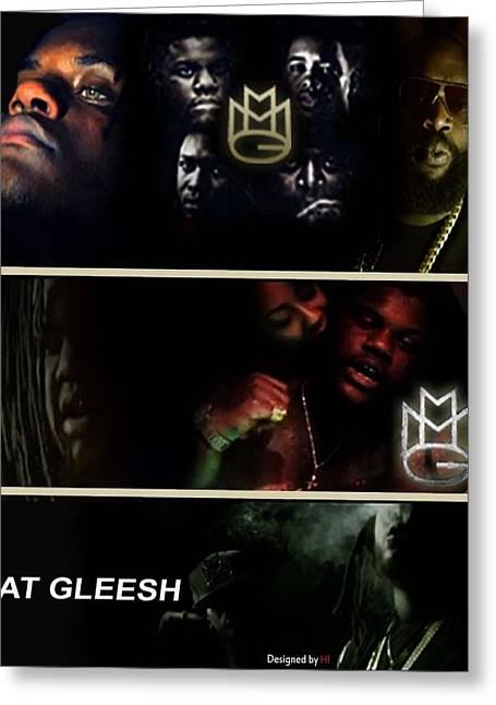 Miami Heat Mixed Media Greeting Cards - Fat Gleesh Greeting Card by Hi