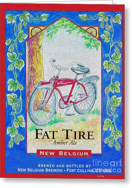 Amber Beer Greeting Cards - Fat Tire Greeting Card by Cheryl Young
