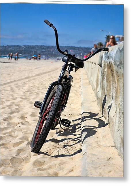 California Beach Art Greeting Cards - Fat Tire - Color Greeting Card by Peter Tellone