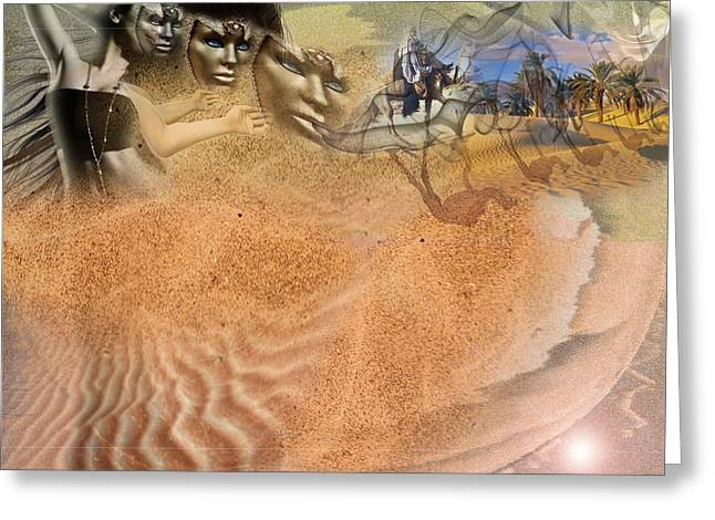 Hallucination Greeting Cards - Fata Morgana Greeting Card by Luana-Beatrice Lazar