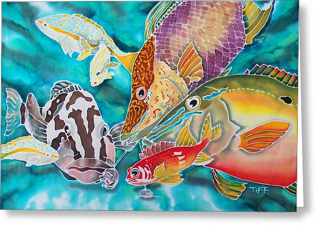Nassau Grouper Greeting Cards - Fatal Attraction Greeting Card by TIFF Barrett