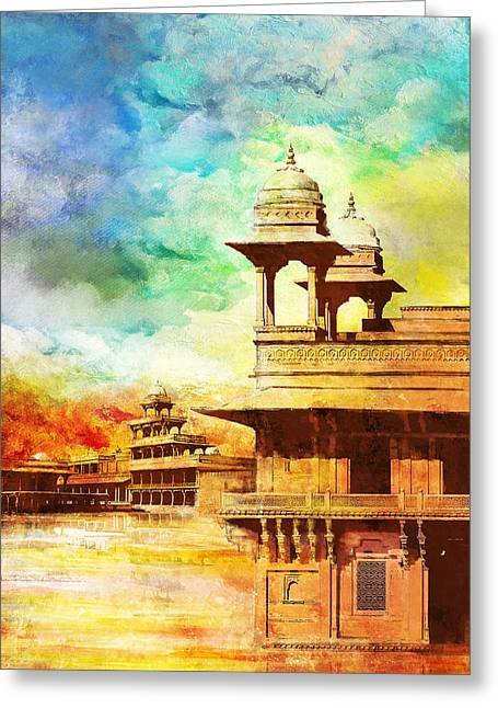 Devi Greeting Cards - Fatehpur Sikri Greeting Card by Catf