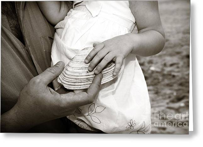 Father And Daughter Greeting Cards - Father and Daughter Greeting Card by John Rizzuto