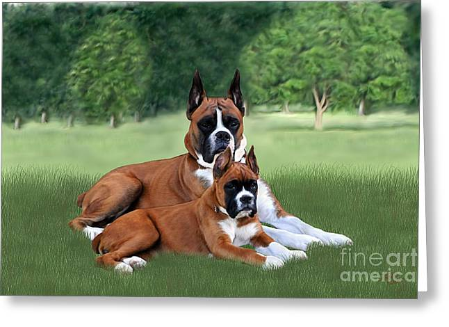 Father And Daughter Greeting Card by Linda Gleason Ritchie