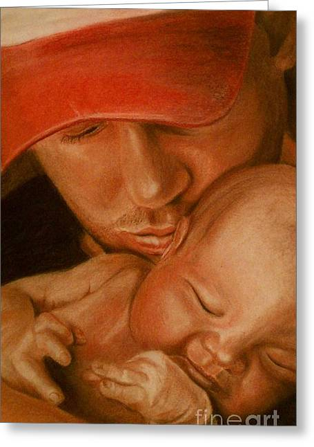 Father And Son Greeting Cards - Father and son Greeting Card by Michael  Volpicelli