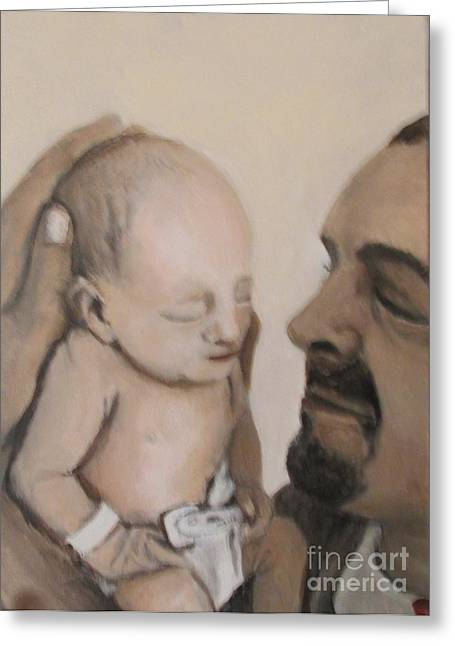 Father Greeting Card by Betty Pimm