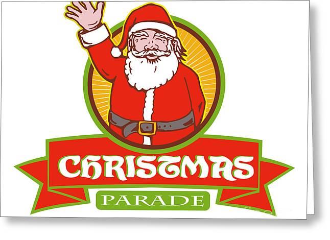 Father Christmas Santa Claus Parade Greeting Card by Aloysius Patrimonio