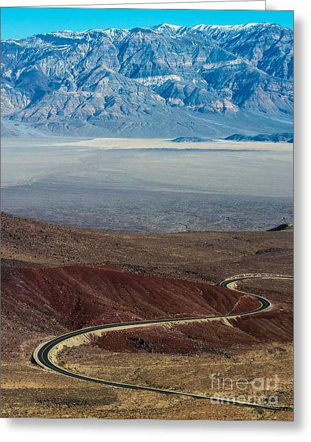 Panamint Valley Greeting Cards - Father Crowley Point - Death Valley - California Greeting Card by Gary Whitton