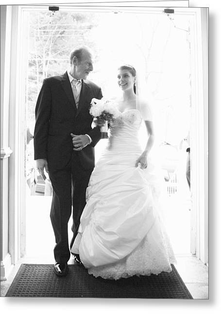 Wedding Day Greeting Cards - Father of The Bride Greeting Card by Rick Berk