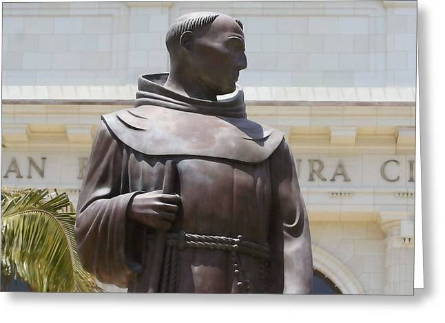 Church Founder Greeting Cards - Father Serra Greeting Card by Art Block Collections