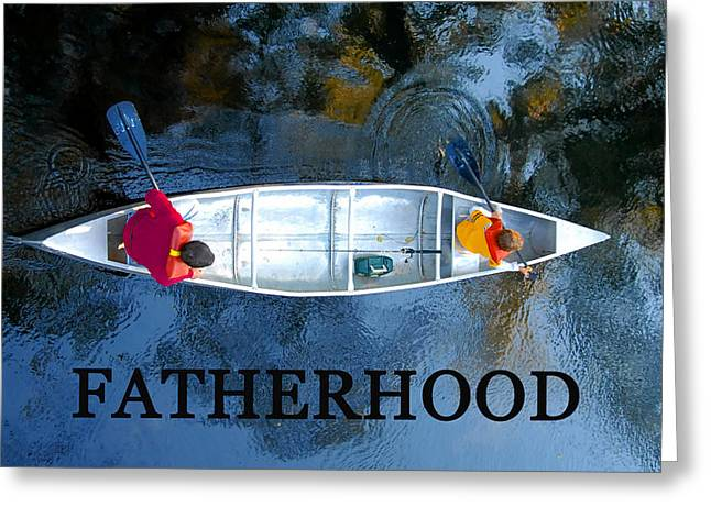 Fishing Trip Greeting Cards - Fatherhood work A Greeting Card by David Lee Thompson