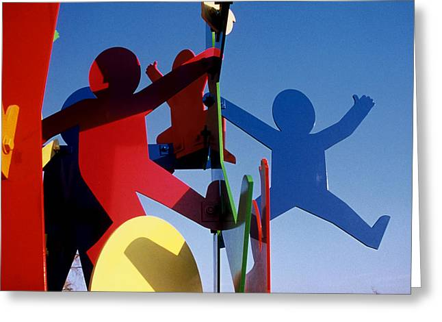 Father Sculptures Greeting Cards - Fathers and Sons  Greeting Card by Peter Michel