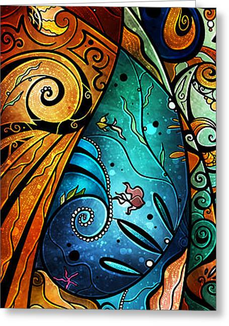 Fish Digital Art Greeting Cards - Fathoms Below Greeting Card by Mandie Manzano
