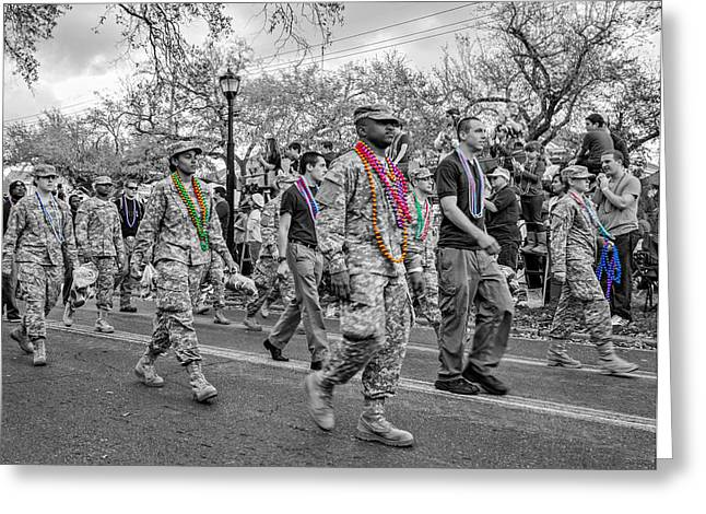 Fatigues Greeting Cards - Fatigues and Beads 2 Greeting Card by Steve Harrington
