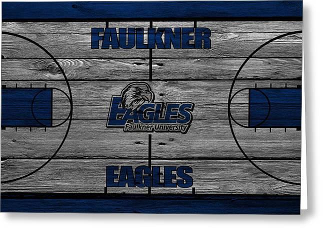 Ball Greeting Cards - Faulkner Eagles Greeting Card by Joe Hamilton